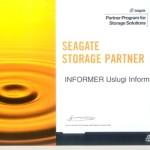 Certyfikat partnerstwa SEAGATE STORAGE