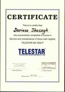 Certyfikat TELESTAR