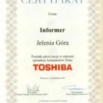 Świadectwo Autoryzacji TOSHIBA